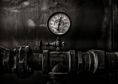 Photograph - Toronto Distillery District Machinery No 1 by Brian Carson
