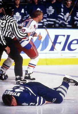 Photograph - Toronto Maple Leafs V New York Rangers by B Bennett
