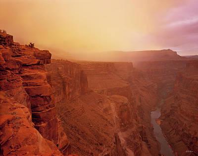 Photograph - Toroweap Overlook Storm Sunrise by Leland D Howard