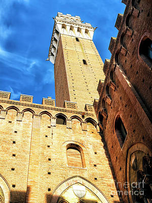 Photograph - Torre Del Mangia In Siena by John Rizzuto