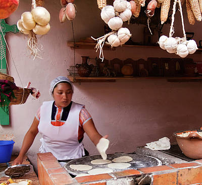 Photograph - Tortillas Maker by Tatiana Travelways