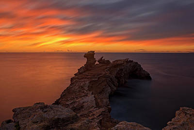 Photograph - Total Calm At A Sunrise In Ibiza by Vicen Photography