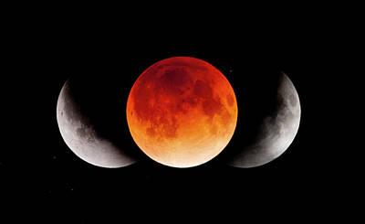 Photograph - Total Lunar Eclipse & Shadow Of The by Naoyuki Noda