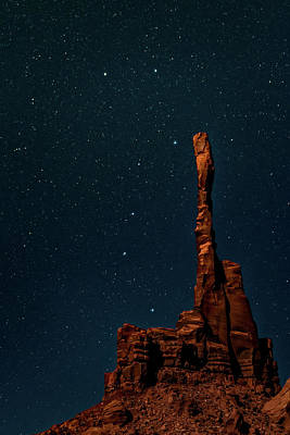 Photograph - Totem Pole And Big Dipper by William Christiansen