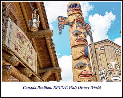 Photograph - Totem Pole, Canada Pavilion, Epcot, Walt Disney World by A Gurmankin