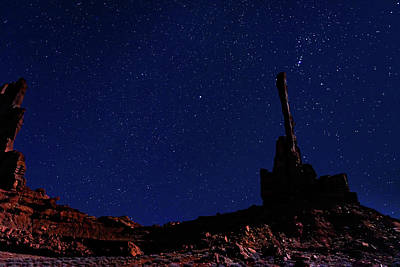Photograph - Totem Pole Under The Night Sky by William Christiansen