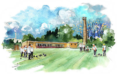Painting - Totnes Bowls Club by Miki De Goodaboom
