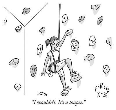 Drawing - Toupee by Farley Katz