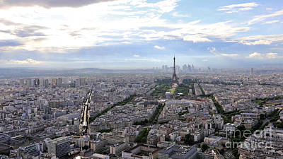 Photograph - Tour Eiffel Aerial View by Benny Marty