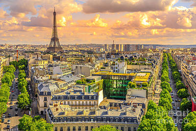 Photograph - Tour Eiffel From Arc De Triomphe by Benny Marty