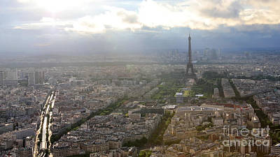 Photograph - Tour Eiffel Panorama by Benny Marty