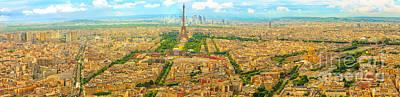 Photograph - Tour Montparnasse Parisian Panorama by Benny Marty