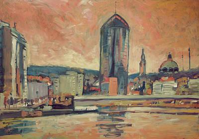 Painting - Tour Paradis Liege by Nop Briex