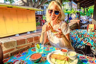 Photograph - Tourist At El Pueblo Los Angeles by Benny Marty
