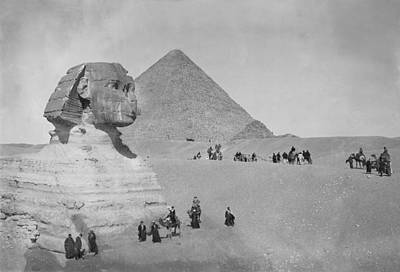 Tourists At Giza Art Print by Topical Press Agency