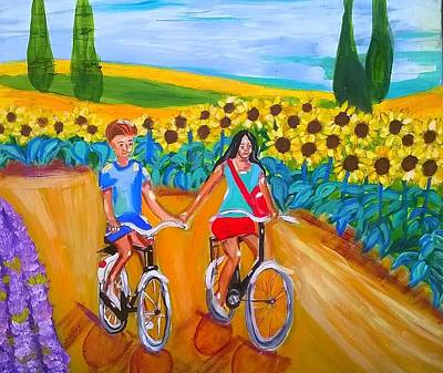 Painting - Tournesol by Rusty Gladdish