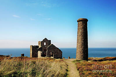Photograph - Towanroath Whim Engine House And Chimney Wheal Coates by Terri Waters