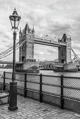 Photograph - Tower Bridge London And Light Post  by John McGraw