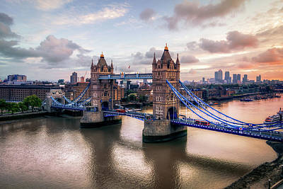 England Photograph - Tower Bridge Taken From City Hall by Joe Daniel Price