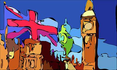 Mixed Media Royalty Free Images - Tower Of Big Ben Royalty-Free Image by David Ridley