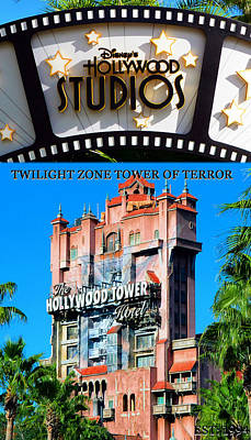 Twilight Zone Wall Art - Photograph - Tower Of Terror Tall Poster by David Lee Thompson