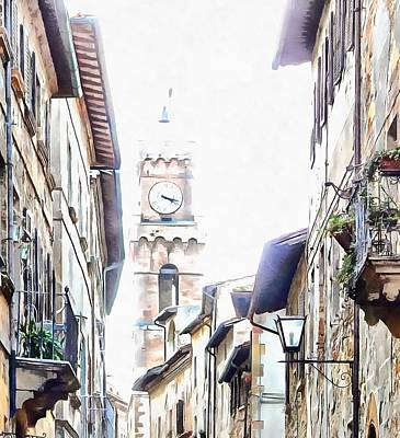 Photograph - Towering Over Pienza by Dorothy Berry-Lound