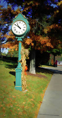 Photograph - Town Clock by Dan Urban