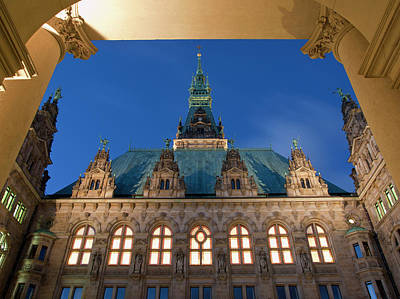 Photograph - Town Hall, Hanseatic City Of Hamburg by Walter Schiesswohl / Look-foto