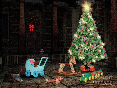 Digital Art - Toys Waiting For A Child by Jutta Maria Pusl