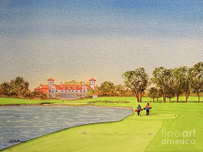 Keith Richards - TPC Sawgrass Golf Course 18th Hole by Bill Holkham