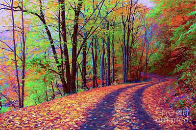 Painting - Tracks Thru Autumn Ap by Dan Carmichael