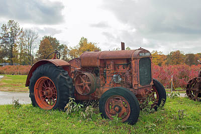 Photograph - Tractor In Autumn by Ken Figurski