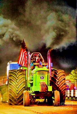 Photograph - Tractor Pull Pop Art by Olivier Le Queinec
