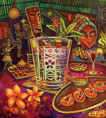 Painting - Trader Vic Mai Tai by CBjork Art