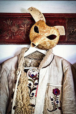Photograph - Traditional Coat And Mask - Romania by Stuart Litoff