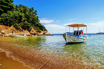 Photograph - Traditional Colorful Boats In Old Town Of Skiathos Island, Spora by Jelena Jovanovic