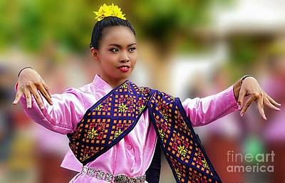 Digital Art - Traditional Cultural Dancer by Ian Gledhill
