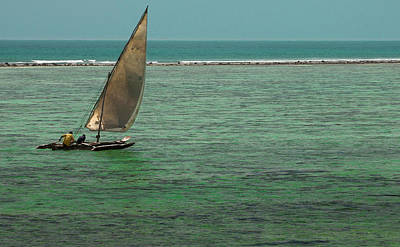 Dhow Photograph - Traditional Dhow Boat, Zanzibar by Danita Delimont