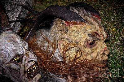 Photograph - Traditional Krampus Masks, Tyrol, Austria by Elzbieta Fazel