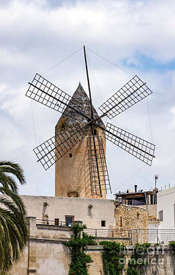 Science Collection Rights Managed Images - Traditional windmill in Palma de Mallorca - Spain Royalty-Free Image by Ulysse Pixel
