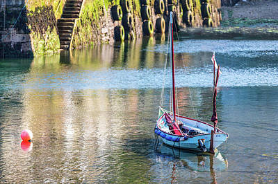 Fireworks - Traditional wooden sailing boat moored in Mevagissey harbour by Chris Warham