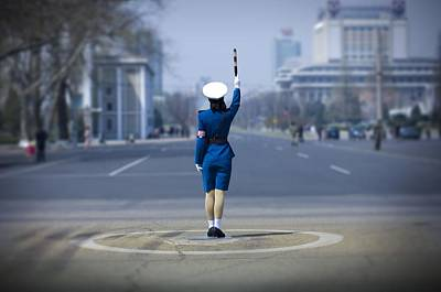Photograph - Traffic Officer In Pyongyang, North by Eric Lafforgue