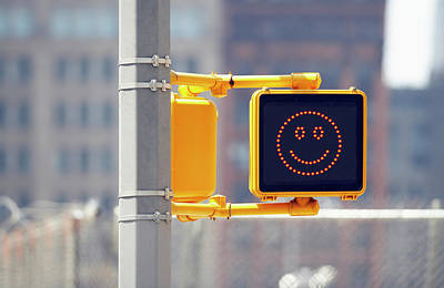 Photograph - Traffic Sign With Smiley Face by Richard Newstead