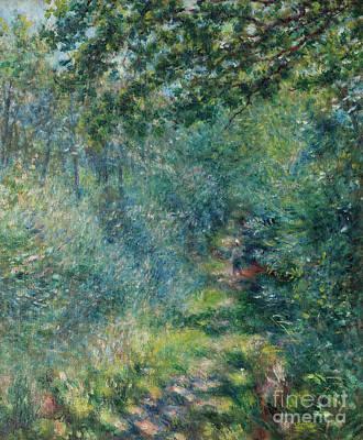 Painting - Trail In The Woods by Pierre Auguste Renoir