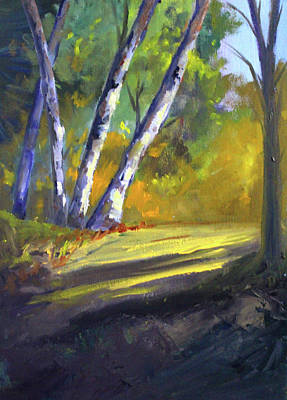 Painting - Trail Light by Nancy Merkle