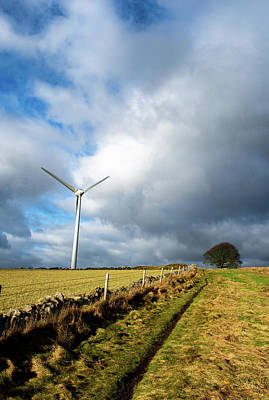 Photograph - Trail Past The Wind Turbine by Scott Lyons