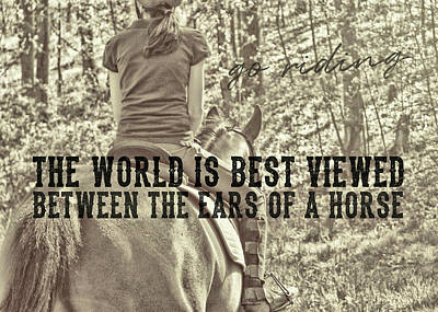 Trail Ride Quote Art Print by JAMART Photography
