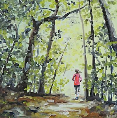 Painting - Trail Run by Anne Lewis