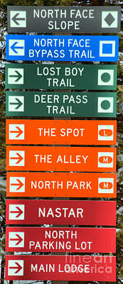 Photograph - Trail Signs At 7 Springs by Adam Jewell
