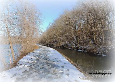 Photograph - Trailing The Delaware In Winter by Tami Quigley